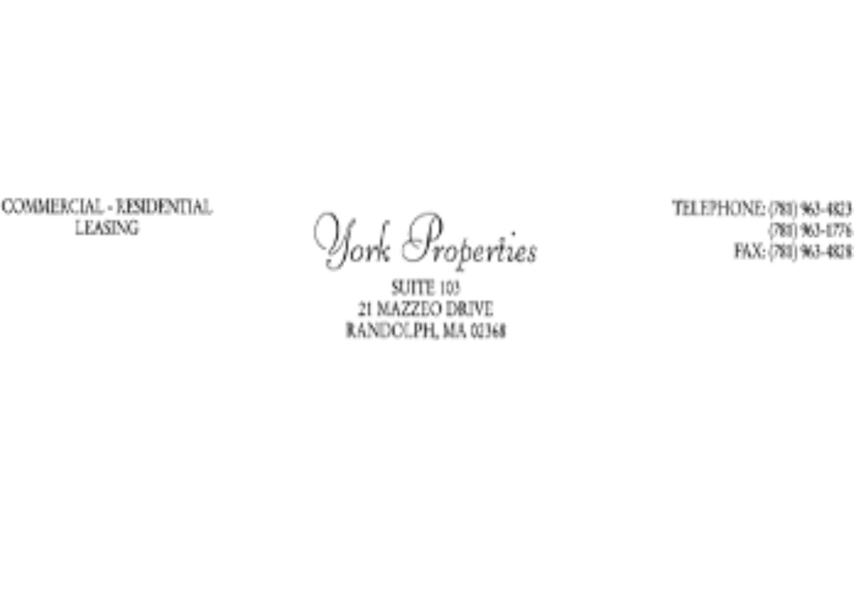 York Properties- Commercial-Residential
